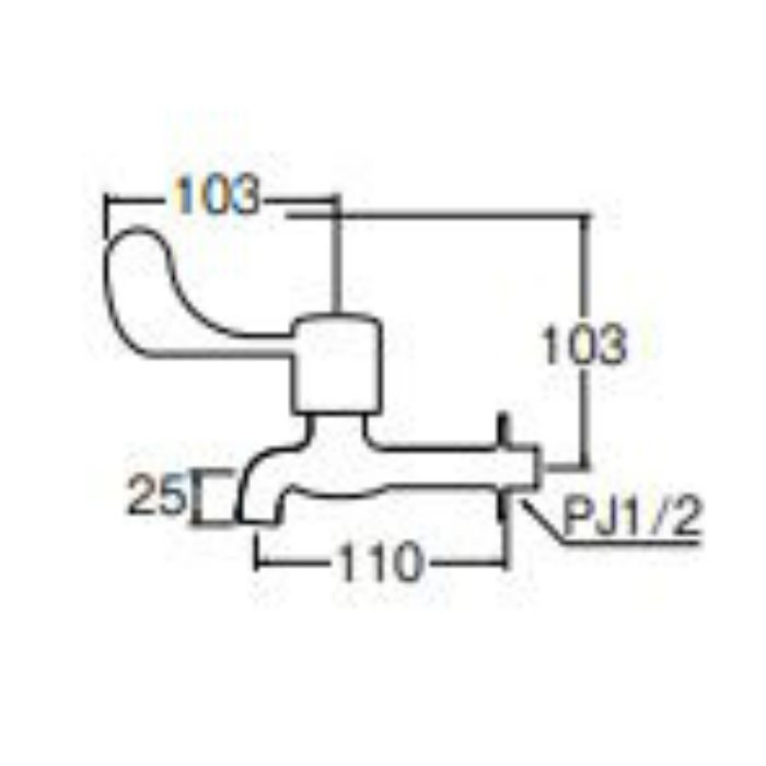JY231-13 レバー胴長横水栓