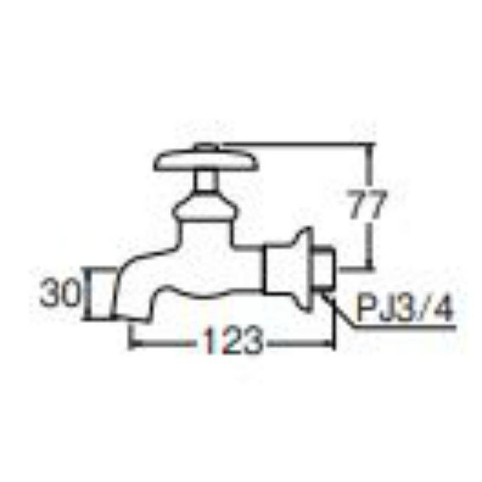 Y11-20 送り座横水栓