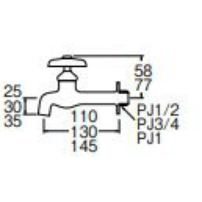 Y20J-20 胴長横水栓