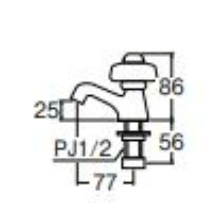 Y509A-13 自閉立水栓【ワンホール】