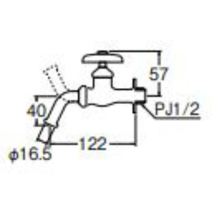 JY12E-13 万能ホーム水栓【壁付】