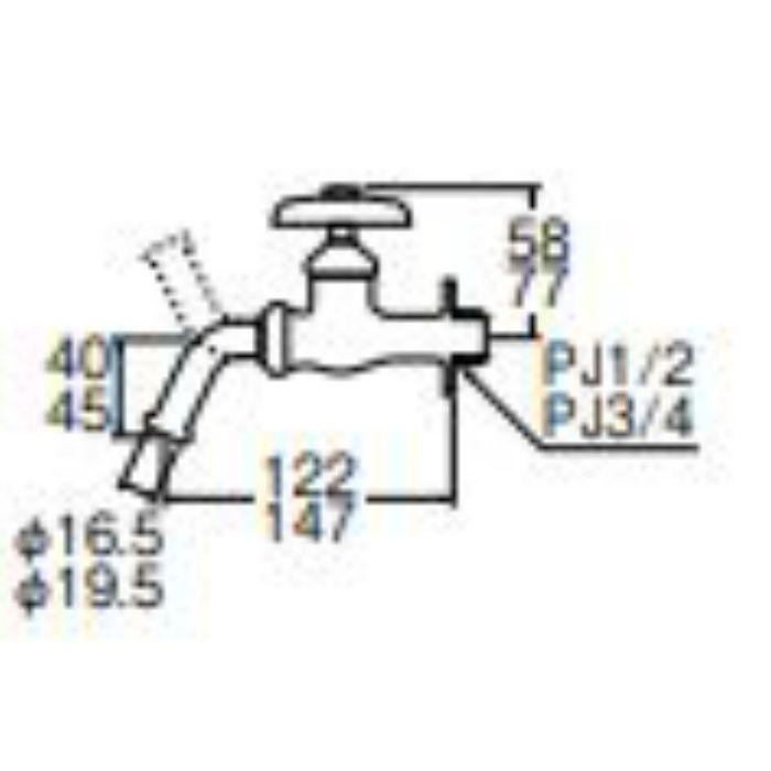 JY12J-13 万能ホーム水栓【壁付】