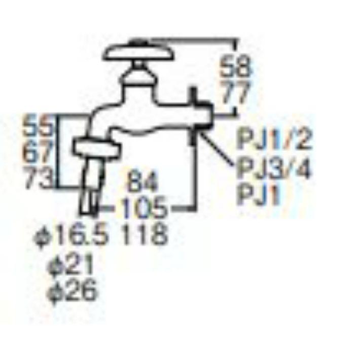 JY30JK-13 カップリング横水栓 寒冷地仕様【壁付】