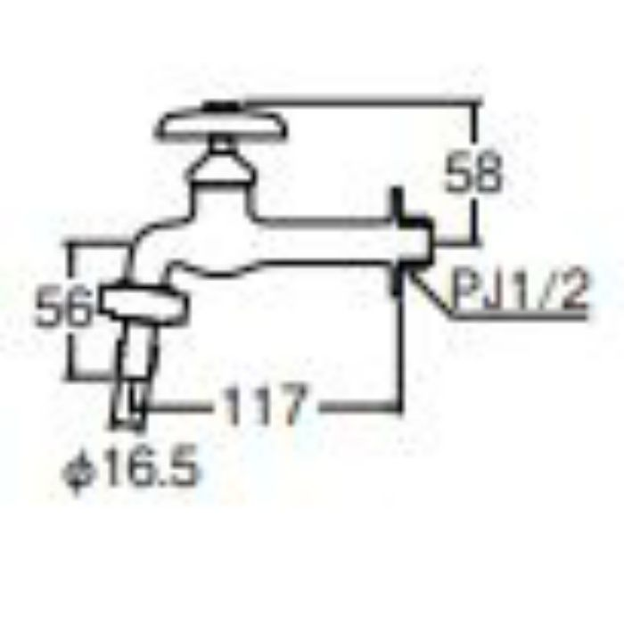 JY32J-13 カップリング胴長横水栓