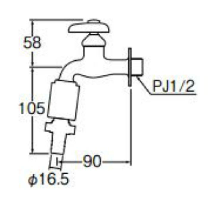 Y30VB-13 カップリング横水栓