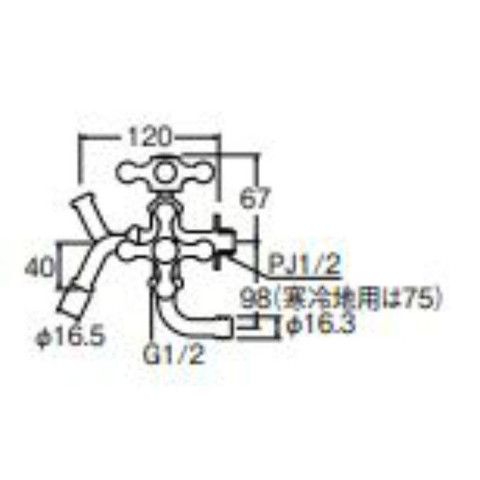 JF12YK-13 万能二口横水栓 寒冷地仕様