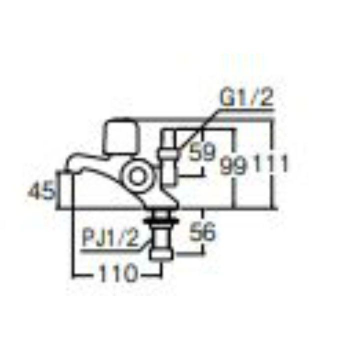 JF504V-13 二口立水栓