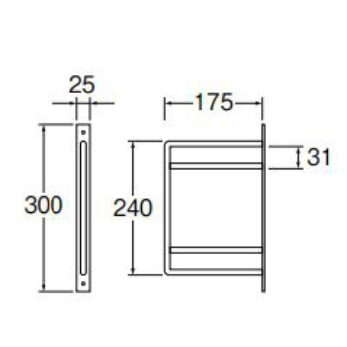 W21070-22-D アイアンブラケット 二段