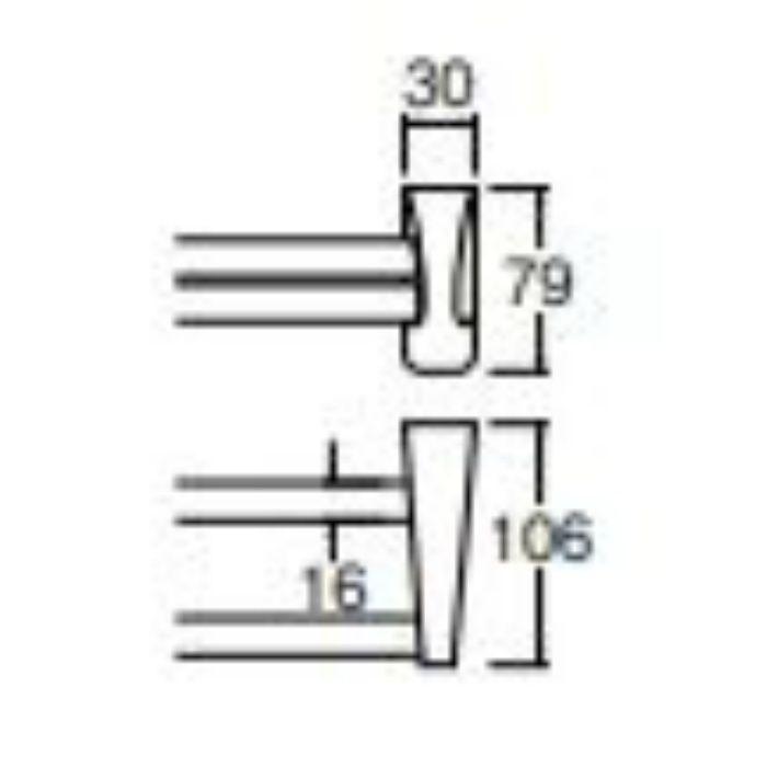 W532-610 Lタイプタオル二段掛