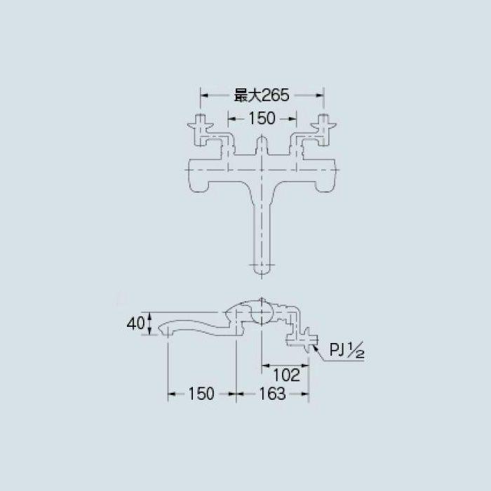 173-215 浴室水栓 サーモスタットシャワー混合栓