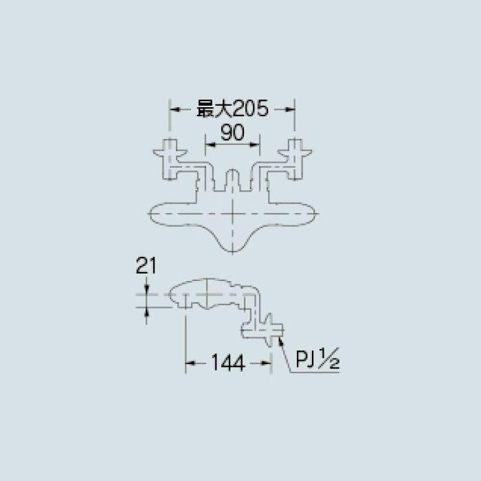 173-235 浴室水栓 サーモスタットシャワー混合栓