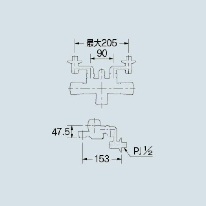 173-237K 浴室水栓 サーモスタットシャワー混合栓(寒冷地仕様)
