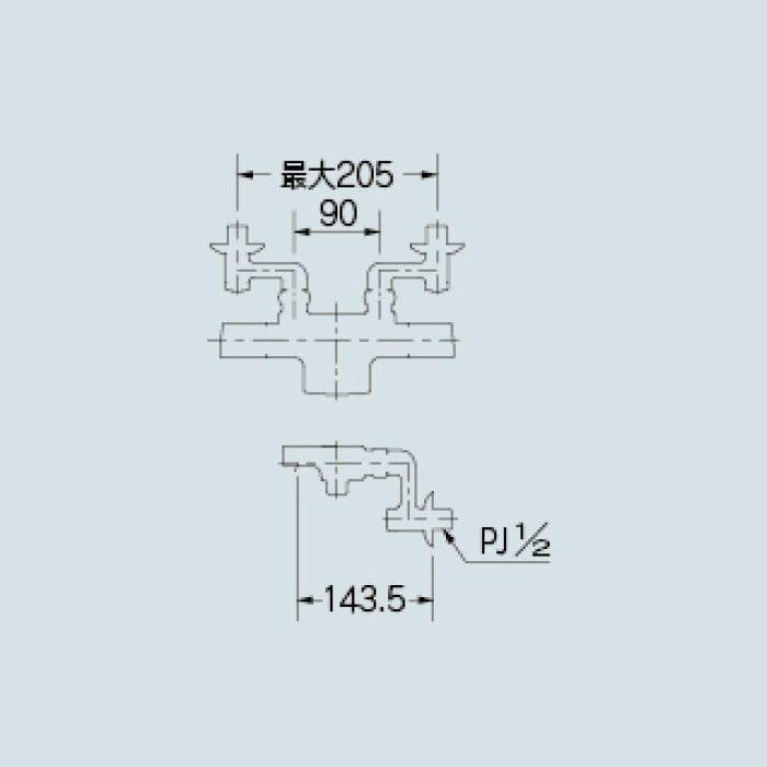 173-244K 浴室水栓 サーモスタットシャワー混合栓(寒冷地仕様)
