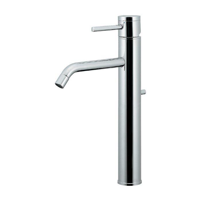 183-286 洗面水栓 シングルレバー混合栓(トール)【ワンホール】