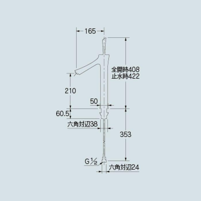 183-215-D 洗面水栓 シングルレバー混合栓(トール) マットブラック【ワンホール】