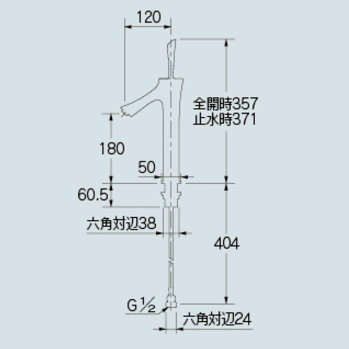 183-213-D 洗面水栓 シングルレバー混合栓(ミドル) マットブラック