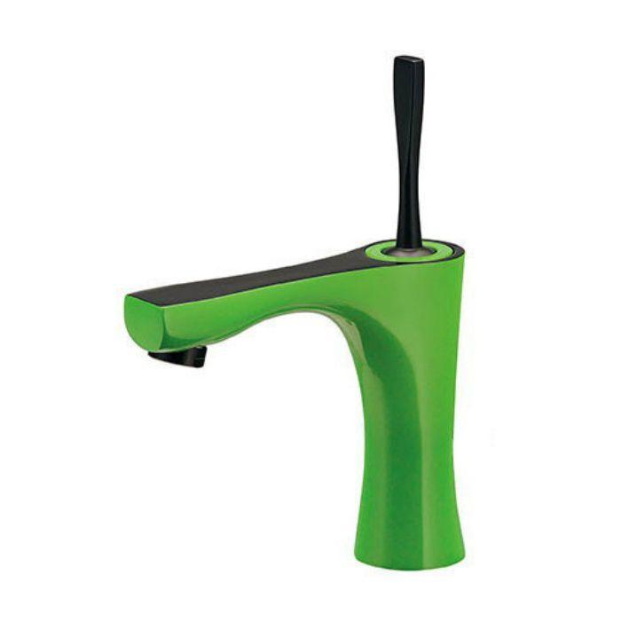 183-231-GR 洗面水栓 シングルレバー混合栓 ライムグリーン
