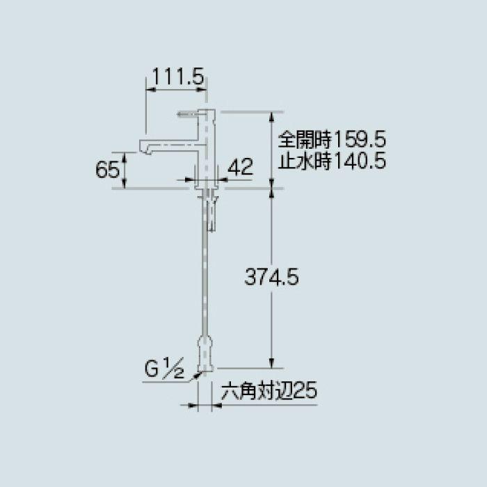 183-088 洗面水栓 シングルレバー混合栓