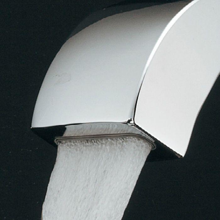 183-160-W 洗面水栓 シングルレバー混合栓 ホワイト【ワンホール】
