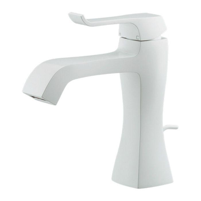 183-161-W 洗面水栓 シングルレバー混合栓 ホワイト
