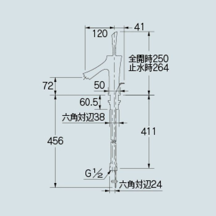 183-210 洗面水栓 シングルレバー混合栓