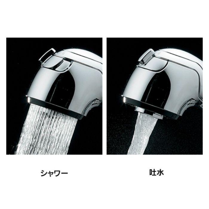 184-022K 洗面水栓 シングルレバー引出し混合栓(寒冷地仕様)【ワンホール】