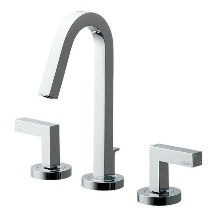 153-018 洗面水栓 台付2ハンドル混合栓