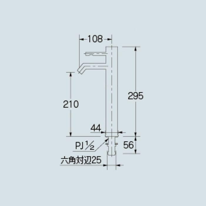 716-272-D 洗面水栓 シングルレバー立水栓(トール) ブラック