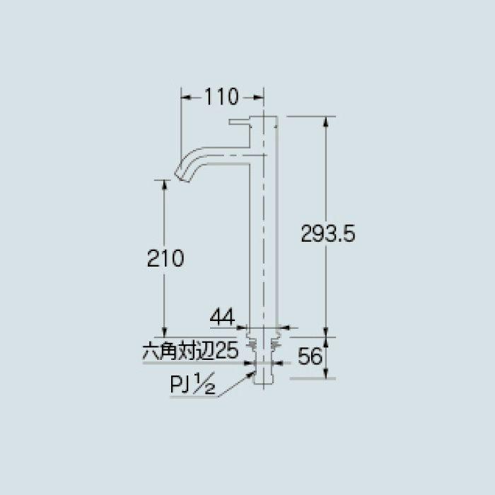 716-885-13 洗面水栓 立水栓(トール)