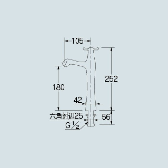 716-845-13 洗面水栓 立水栓(トール)