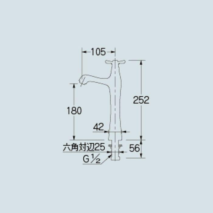 716-848-13 洗面水栓 立水栓(トール)