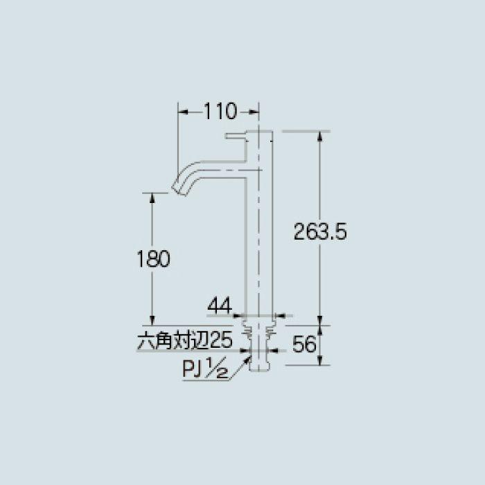 716-884-13 洗面水栓 立水栓(ミドル)【ワンホール】