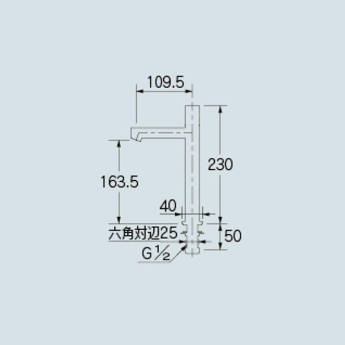 716-822-13 洗面水栓 立水栓(トール)
