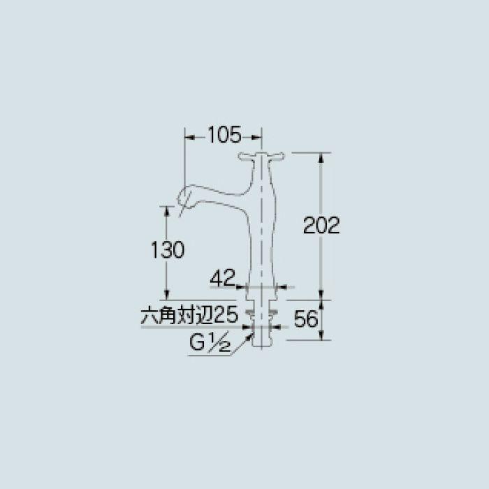716-847-13 洗面水栓 立水栓(ミドル)