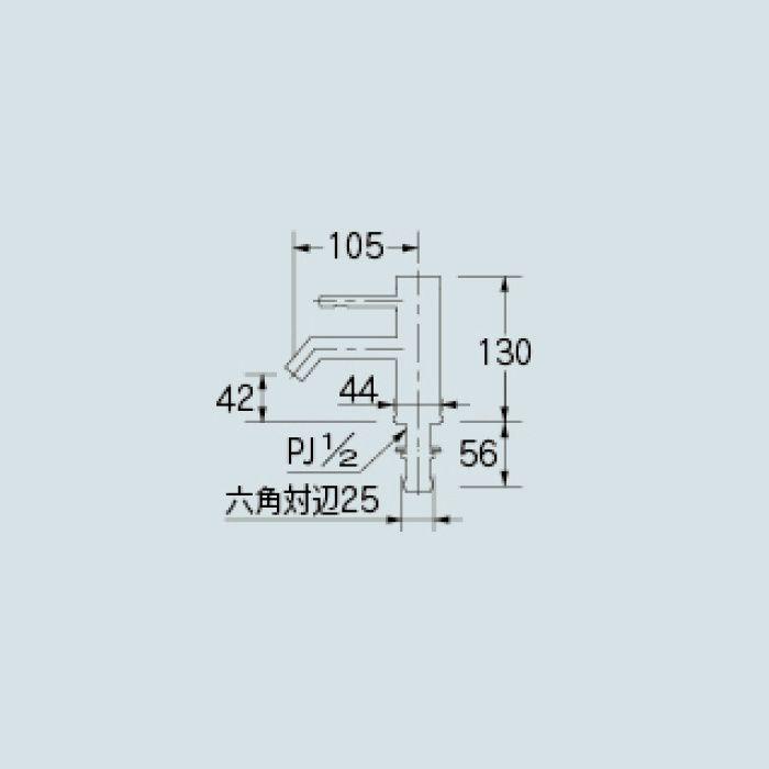 716-213-13 洗面水栓 シングルレバー立水栓