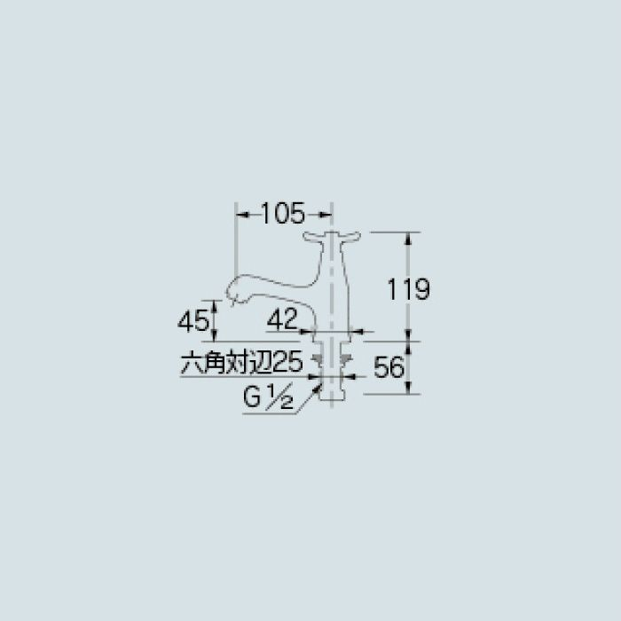 716-846-13 洗面水栓 立水栓【ワンホール】