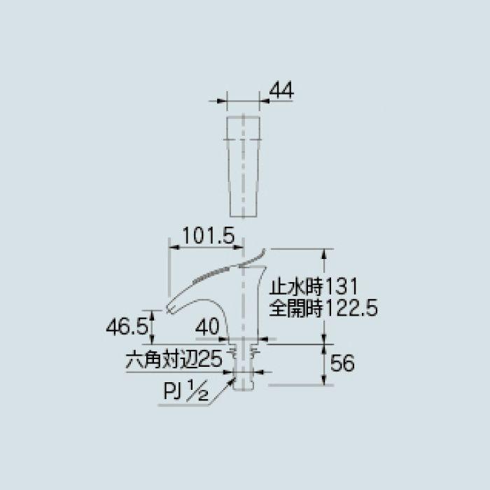716-241-D 洗面水栓 立水栓 ブラック