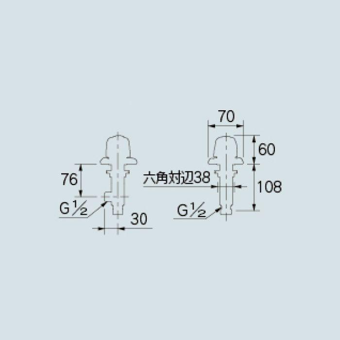 784-412 洗面水栓 カウンター化粧バルブ