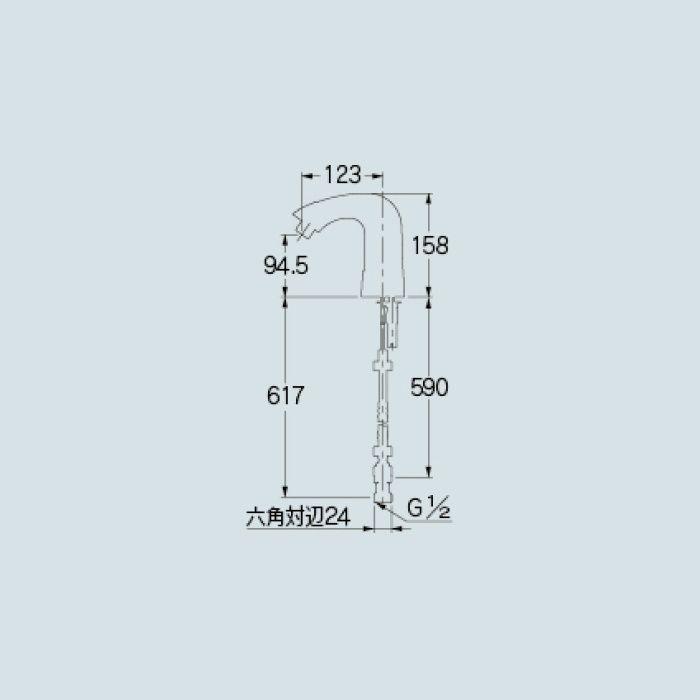 【入荷待ち】713-401 洗面水栓 センサー混合栓