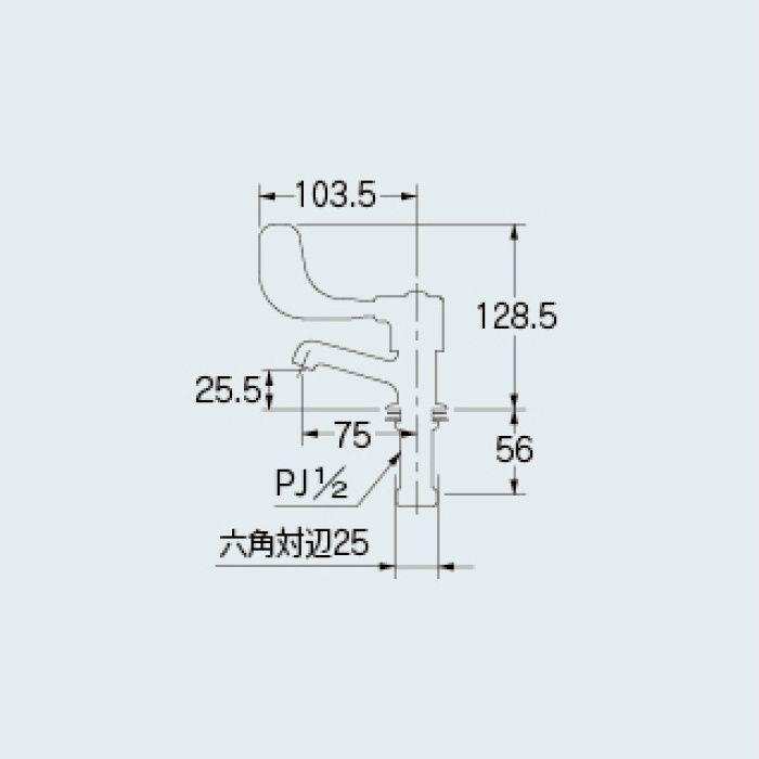 700-006-13 洗面水栓 レバー式立水栓