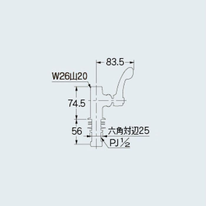 700-758-CU 洗面水栓 立形自在水栓本体