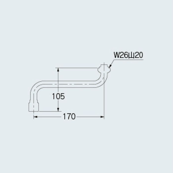 795-49-170 洗面水栓 整流Sパイプ