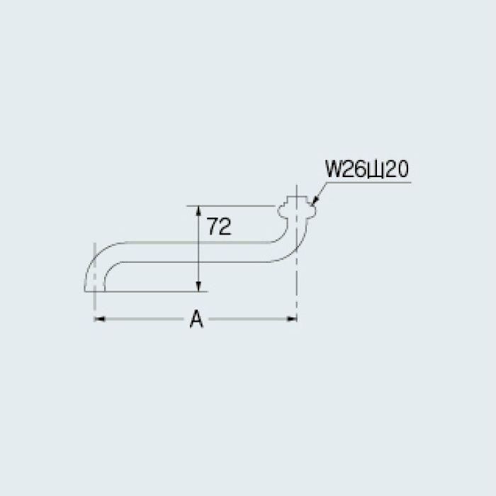795-52-240 洗面水栓 Sパイプ