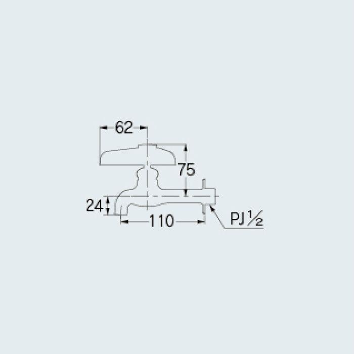 702-015-13 洗面水栓 横水栓(どっか~ん)