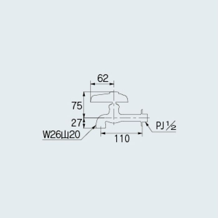 706-037-13 洗面水栓 自在水栓本体(どっか~ん)