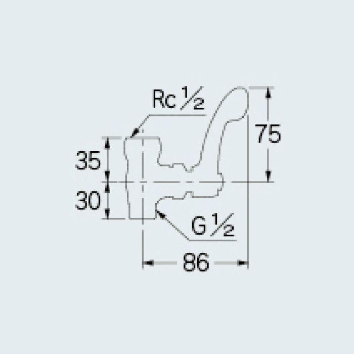 785-208-13QR 厨房水栓 厨房用化粧バルブ