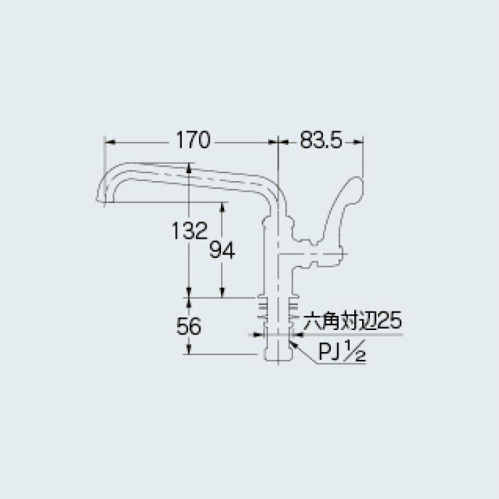 700-745-13QR 厨房水栓 厨房用立形自在水栓