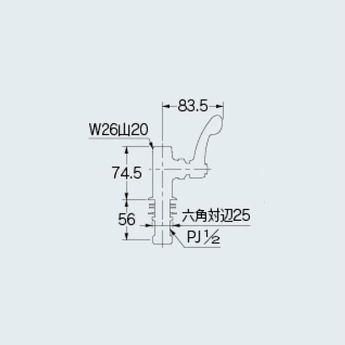 700-795-13QR 厨房水栓 厨房用立形自在水栓本体