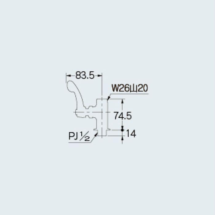 724-495-13QR 厨房水栓 厨房用左ハンドル立形自在水栓本体