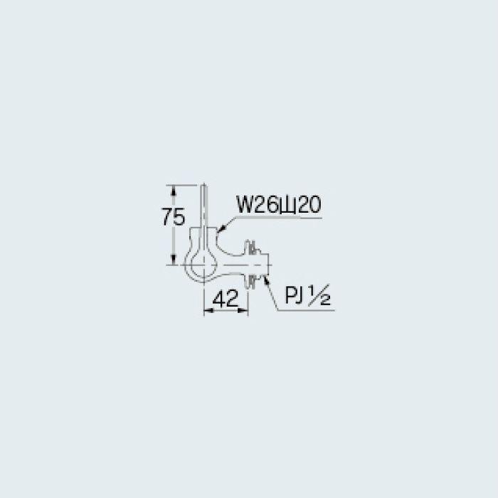 707-095-13QR 厨房水栓 厨房用横形自在水栓本体